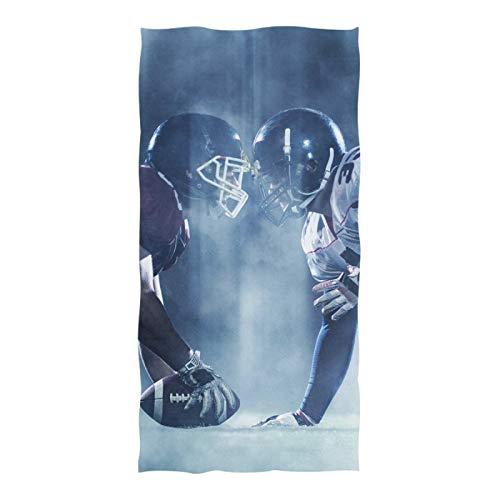 Mikrofaser-Badetuch Hochabsorbierende Handtücher für Frauen Männer 74 x 37 Zoll American Football-Spieler