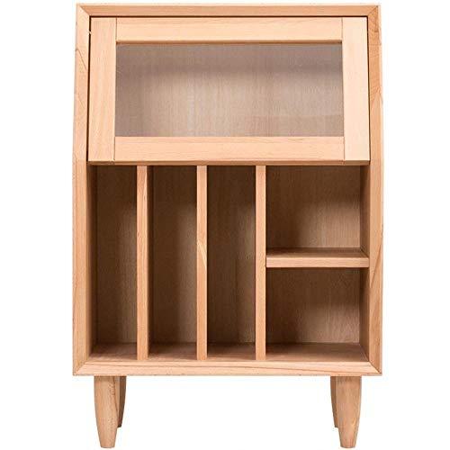 Kutera nachtkastjes TV zijkast bank tijdschrift kast woonkamer opslag massief hout wit eiken Japanse stijl Scandinavische stijl licht kleine boekenkast