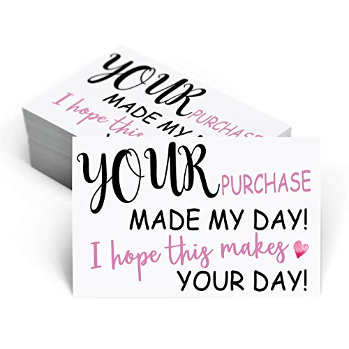 Thank you for Supporting My Business Cards – Customer Thank You Cards – 50 Pcs (SMB11)