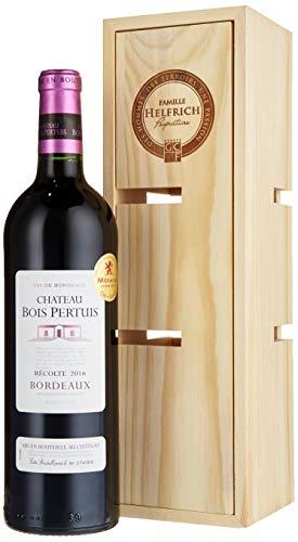 Famille Helfrich, Geschenkset, Château Bois Pertuis in Holzkiste verwandelbar zu einem Weinregal, Rotwein aus Frankreich, 1 Flasche + Holzkiste (1 x 0.75 l)