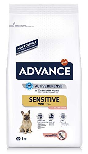 ADVANCE Sensitive Mini - Pienso para Perros de Razas Pequeñas con Sensibilidades Digestivas con Salmón y Arroz - 7,5kg