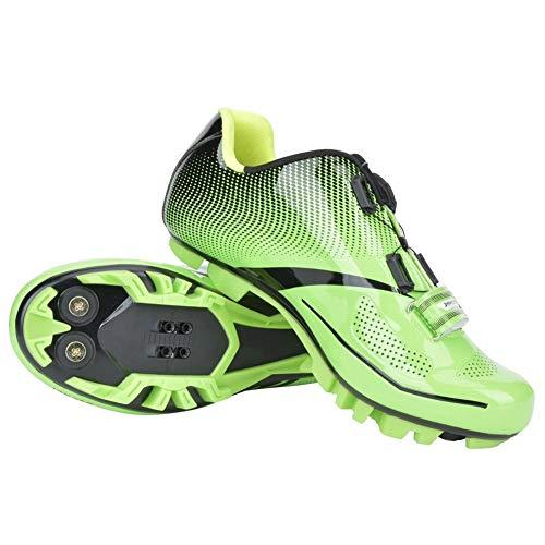 Alupre Zapatos de Bloqueo Unisex Bici del Ultraligero y Transpirable Antideslizante Sport...