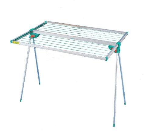 Juwel Wäschetrockner Alu Twist 140 (kompakte Form, für 1,5 Waschmaschinenladungen, ca. 13,7 m Aufhängelänge, rostfrei) 30015