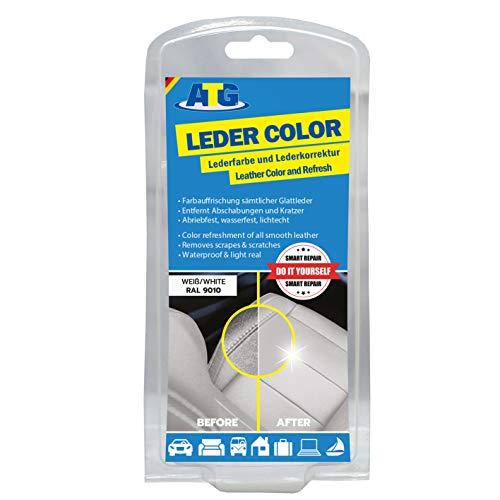 ATG Tinte reparador Cuero Set: restaurador tapiceria Cuero y Cuero sintético,Blanco