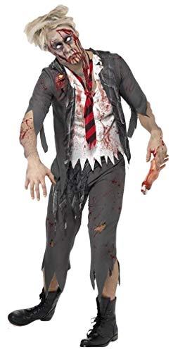 Mens Zombie School Boy Schoolboy Uniform Halloween Fancy Dress Costume Outfit (Large)