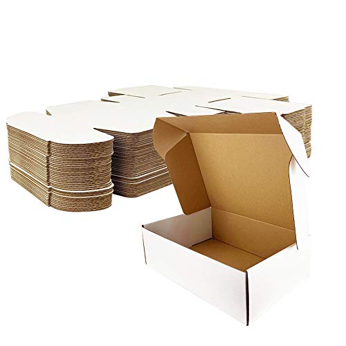 Giftgarden Caja de Cartón Craft 28x20.4x5.1 cm,Color Blanco,Cajas de Carton para Envíos Corrugado,25 Unidades