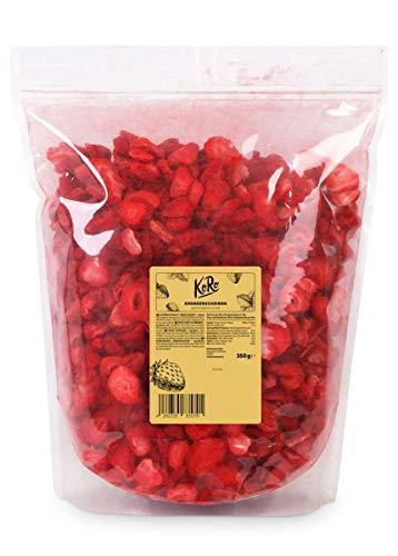 KoRo - Gefriergetrocknete Erdbeeren 350 g - Schonend getrocknete Trockenfrüchte - 100 % pflanzlich und naturbelassen