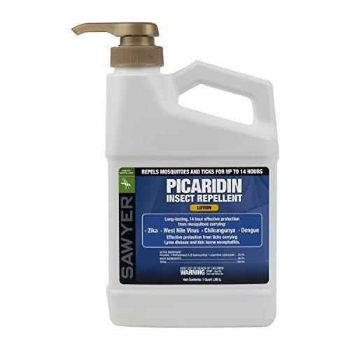 Sawyer Products SP565 Premium Insect Repellent with 20% Picaridin, 1-Quart Lotion Pump Dispenser,White