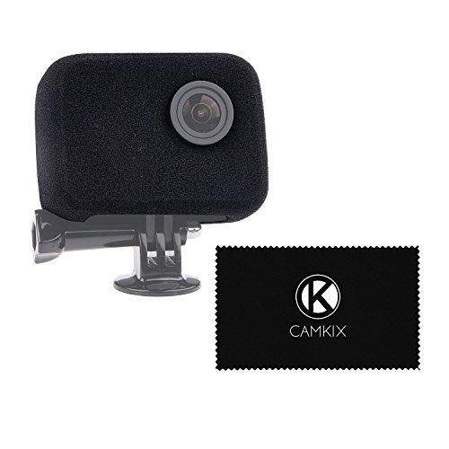 CamKix Parabrisas compatible con su GoPro Camera – Reduce el ruido del viento durante la grabación de audio optima - For GoPro HERO4, HERO3+ and HERO3 – Filtro protector del lente, tapa del objetivo y paño de limpieza