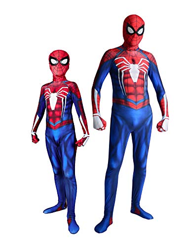 PS4 Spider Costume Insomniac Games Version Spider-Man Cosplay Suit Halloween Kids XS 110cm