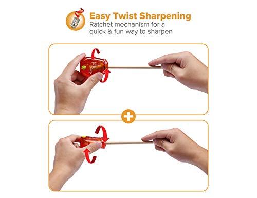 Bostitch Office Twist-N-Sharp Manual Pencil Sharpener, Single Hole, 3-Pack