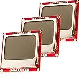 AZDelivery 3 x 84x48 Pixel LCD Bildschirm mit Weißer Hintergr&beleuchtung & Schwarzen Zeichen kompatibel mit Arduino, Nokia 5110 & Joystick PS2 Gamepad inklusive E-Book!