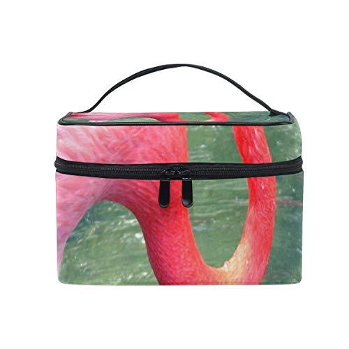 Trousse de maquillage Flamingo Pink Cosmetic Bag Portable Grand Trousse de toilette pour femmes/filles Travel
