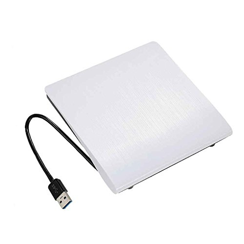 Uzinb External Slim USB 3.0 DVD-ROM Optical Drive CD DVD ROM Disk Reader Player for Desktop PC Laptop Tablet