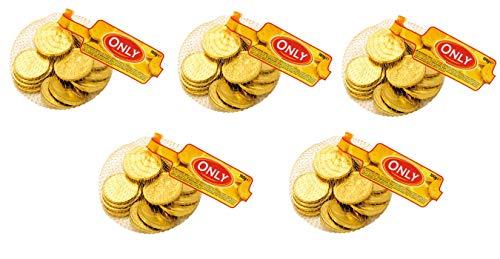 Only Schokoladen Goldmünzen, 5x100g