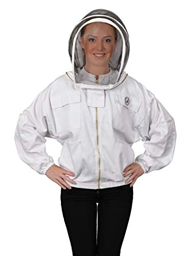 Humble Bee 311 Polycotton Beekeeping Jacket with Fencing Veil