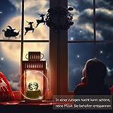 DUTISON Kristallkugel Spieluhr, 360° Rotierende hölzerne Spieluhr mit Licht, Beleuchtete Projektionsfunktion, Geschenk für Weihnachten, Erntedankfest, Geburtstag - 3