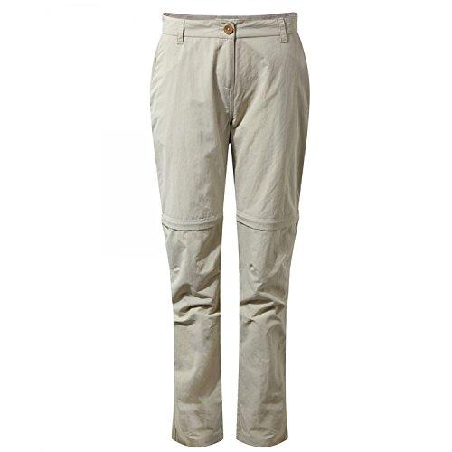 Craghoppers W NosiLife Zip-Off Hose Beige, Damen Daunen Hose, Größe 46 - Long - Farbe Desert Sand