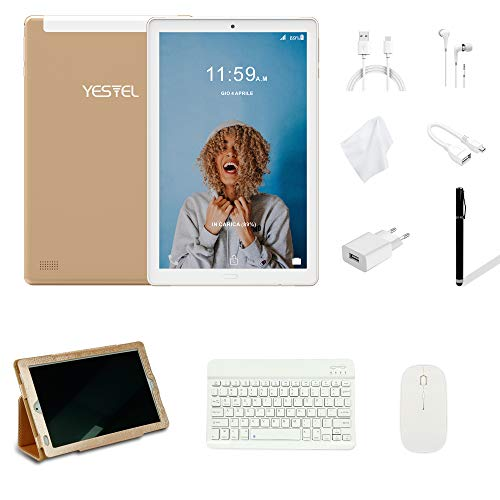 Tablets 10 Pulgadas YESTEL Android 8.0 Tablet con 3GB RAM & 32GB ROM y 4G LTE...