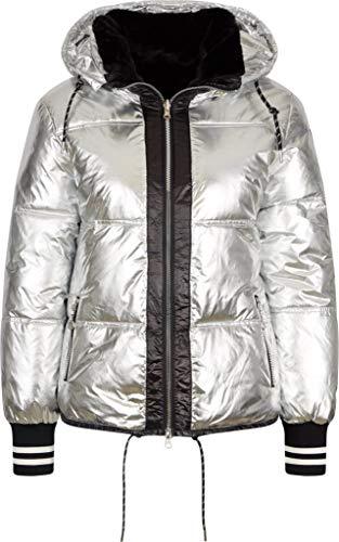Sportalm W Reversible Jacket 1 Grau-Schwarz, Damen Isolationsjacke, Größe 38 - Farbe Silver PP