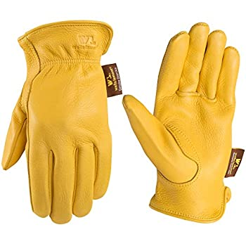 Men s Deerskin Full Leather Light-Duty Driving Gloves Large  Wells Lamont 962