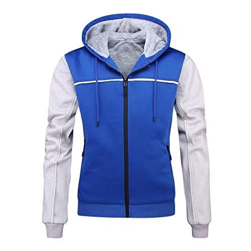 Mens Pile Lined Fleece Long Sleeve Full Zip Jackets