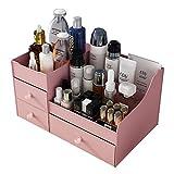 SJGDJ Organizador de Maquillaje, cosméticos Caja de Almacenamiento - con cajones - joyería de Escritorio del envase de Las misceláneas - Baño - Vanidad y encimera (Pink)