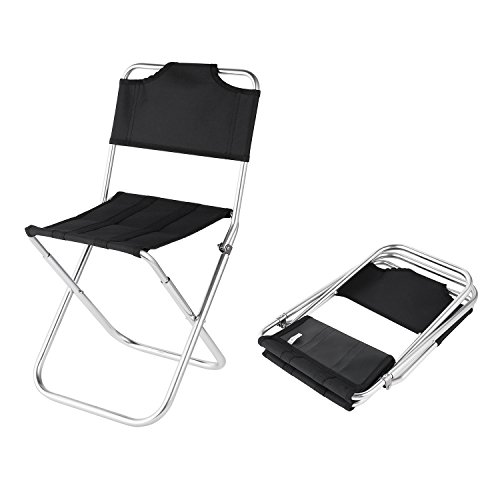 OUTAD Mini Oxford Silla Portátil Plegable de Aluminio -Taburete Asiento para Camping...