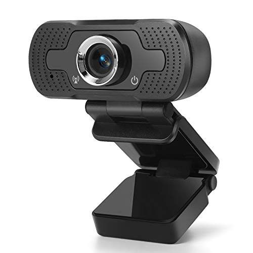 GOSCIEN Webcam, Ultra HD 1080P Webcam Computer Web Camera Video Cam with Microphone for PC Laptop Desktop, Plug and Play USB Webcam Camera for Youtube, Skype, Video Calling, Studying, Conference