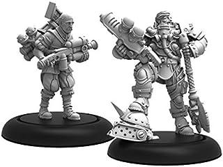 Crucible Guard: Marshal General Baldwin & Mt. Clogg Warcaster (Metal/Resin)