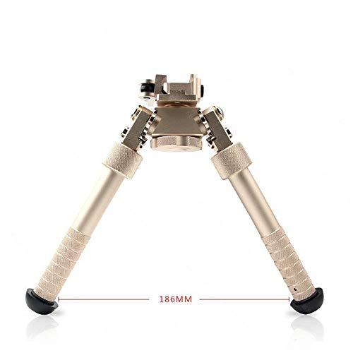 Bípodes XFC Equipo de Airsoft 6 Pulgadas Bipod cámara Táctica General Rifle de Juguete Accesorios Trípode Rota de 360 Grados para Caza (Color : Oro)