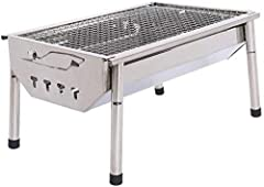 Portable: The BBQ grill has four detachable legs, Detachable legs design made for easy carry and storage . Perfect for camping, backpacking, picnics, tailgate parties, camping, trailers, parks, and grilling in small spaces. FIRM AND DRUABLE This prod...