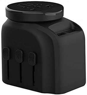 XIMINGJIA-O Power Plug Adapter - International Travel - 2 USB Ports in Over 150 Countries - 100-250 Volt Adapter - (1 Pack) Black International Converter, (Color : Black)
