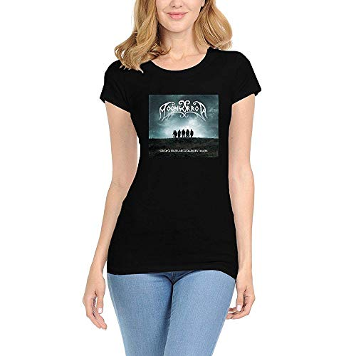CHENYINJJ Mujer Moonsorrow Varjoina Round Collar Camiseta T-Shirt Small