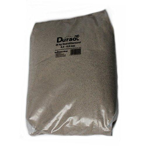 25Kg Duraol® Spezial Kristallquarzfiltersand - Körnung 0,4-0,8mm
