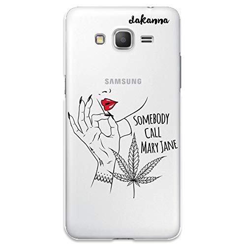 dakanna Funda para Samsung Galaxy Grand Prime | Chica con Labios Rojos Frase: Somebody Call Mary Jane | Carcasa de Gel Silicona Flexible | Fondo Transparente
