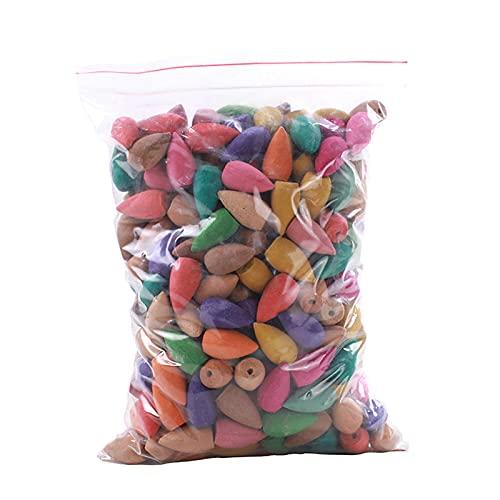 Cones de incenso de retorno, 30/60/100/300/600 peças de cones de incenso de sabor misto, incenso natural, floral, lavanda, sândalo, aloes e mais