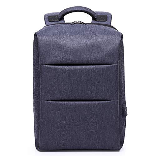 Sac à dos pour ordinateur portable professionnel, sac à dos de voyage anti-vol pour ordinateur portable avec port de charge USB résistant à l'eau élégant 15,6 pouces College School Daypacks,Blue