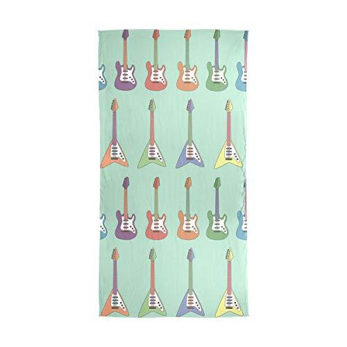 XiangHeFu Bufanda de seda Gasa larga Colorido Guitarra eléctrica Chica Chal Muffler...