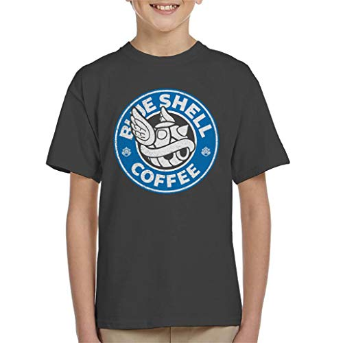 Cloud City 7 Blauw Shell Koffie Starbucks Logo Parodie Kinder T-Shirt