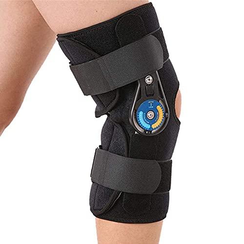 FACAZ Support de genouillère articulé réglable, genouillère Fixe pour rééducation pour Fracture du Genou Ligament du Genou, Les Jambes Peuvent être pliées à Un Angle de 0 °~ 120 °