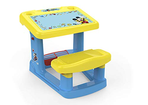 Chicos - Mickey Mi Primer Pupitre, Pupitre Infantil, Incluye Láminas de Mickey Mouse, a partir de 24 Meses, Multicolor, 57.5 X 72.5 X 49 cm