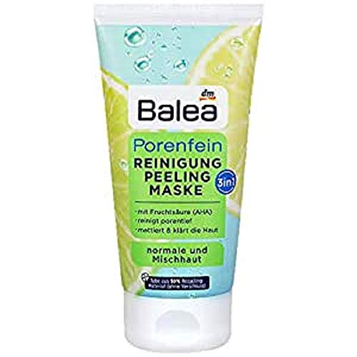 Balea 3in1 Reinigung Peeling Maske mit Fruchtsäure, 150 ml