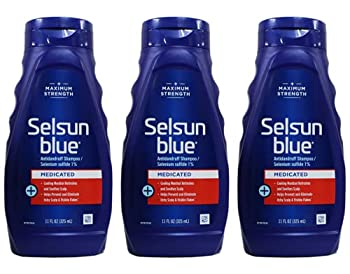 Selsun Blue Medicated Maximum Strength Dandruff Shampoo 11 Ounce  Pack of 3