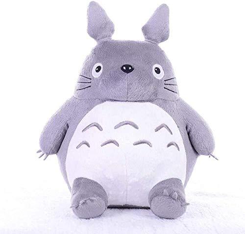LSCC Mi Vecino Muñeca de Juguete de Peluche Hayao Miyazaki Totoro Animales Cojín de Almohada de Juguete Suave para niños Regalo de niña Decoración del hogar y cumpleaños,Gris,30CM