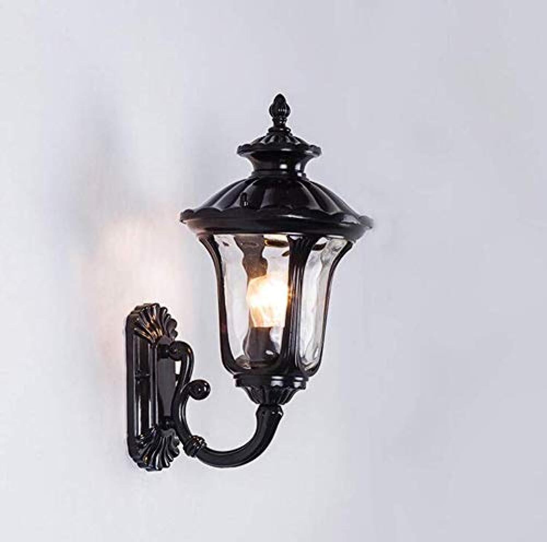 Retro Lichtwaterproof Wandleuchte American Retro Outdoor Gartenlampe Balkon Wohnzimmer Gang Korridor Garten Wandleuchte 225  180  365 Mm, Bronze [Energieklasse A +]