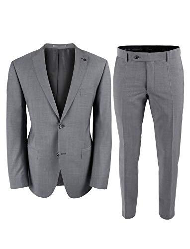 Roy Robson Herren Anzug Regular Fit 2-teilig aus Schurwolle Super'100 Business (5023) (Hellgrau, 110)
