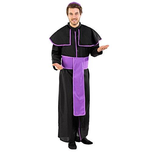 TecTake dressforfun Disfraz para Hombre de Sacerdote benedictino | Preciosa Vestimenta con cinturón Muy Atractivo y solideo (XXL | no. 300481)