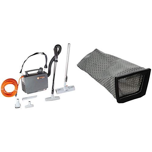 Hoover CH30000 PortaPower Lightweight Commercial Canister Vacuum, Orange & Cloth Bag, Porta Power Swingette S1015 S1029