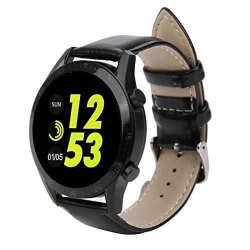 Denkerm Smartwatch, Reloj Totalmente táctil Resistente al Agua, monitorización del sueño de Alta definición, portátil para Caminar, Correr(Black)